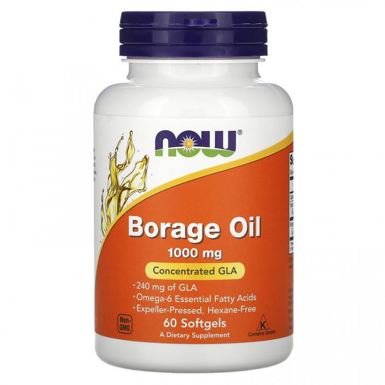 Borage Oil 1000 mg 60 softgels / Масло Бурачника