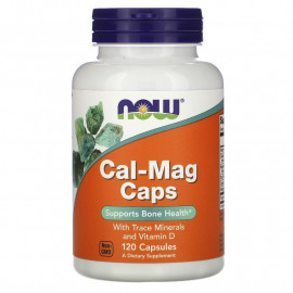 Now Foods Cal-Mag Caps with Trace Minerals and Vitamin D / Кальций, Магний, Витамин Д3 120 Капсул