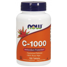 Vitamin C-1000 Sustained Release with Rose Hips 100 tab / Витамин С