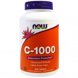 Vitamin C-1000 Sustained Release with Rose Hips 250 tab / Витамин С