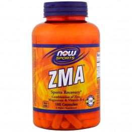 ZMA 180 caps Now Foods / Магний, Цинк, Витамин Б-6