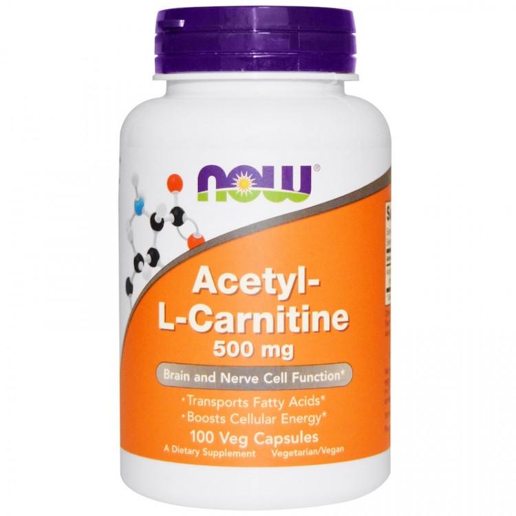 Acetyl-L-Carnitine 500 mg 100 vcaps / Ацетил-L-Карнитин