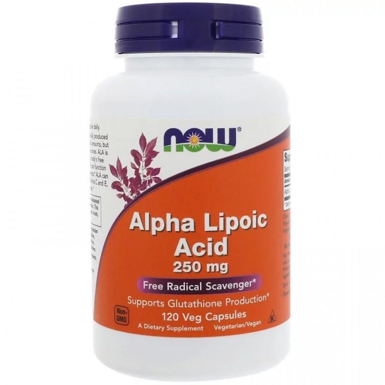 Альфа-липоевая кислота 250 мг 120 капсул