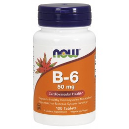 Vitamin B-6 50 mg 100 tab / Витамин Б-6 (Пиридоксин)