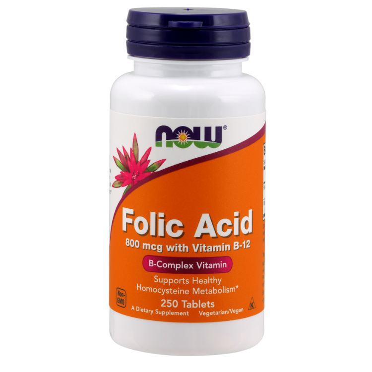 Folic Acid with Vitamin B12 250 tab / Фолиевая кислота