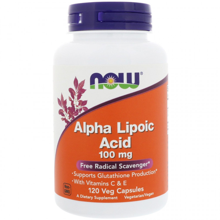 Alpha Lipoic Acid 100 mg Vitamin C and E 120 caps / Альфа-липоевая кислота