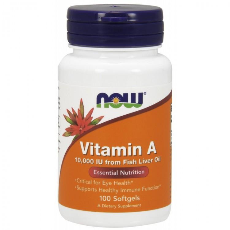 Vitamin A 10.000 IU 100 softgels / Витамин А