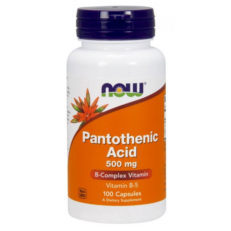Pantothenic Acid 500 mg 100 caps / Пантотеновая кислота (витамин B5)