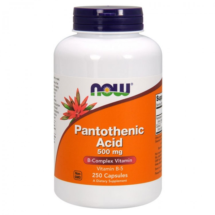 Pantothenic Acid 500 mg 250 caps / Пантотеновая кислота (витамин B5)