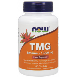 TMG Trimethylglycine 1000 mg 100 tab /Триметил-глицин (ТМГ)