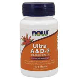Ultra A / D-3 25000/1000 IU 100 softgels | Витамины А и Д-3
