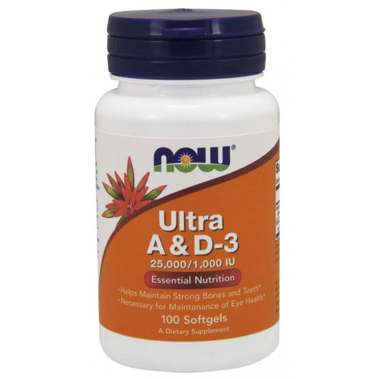 Ultra A / D-3 25000/1000 IU 100 softgels | Витамины А и Д-3
