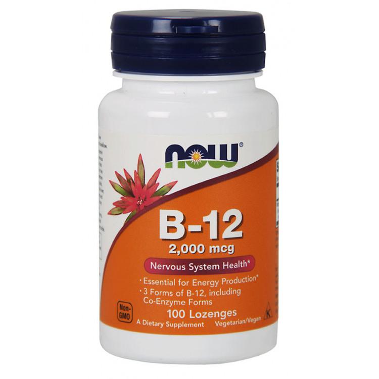 Vitamin B-12 2000 mcg 100 Lozenges / Витамин Б-12 (Цианокобаламин)