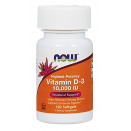 Vitamin D-3 10000 IU 120 softgels / Витамин Д-3