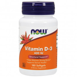Vitamin D-3 400 IU 180 Softgels / Витамин Д-3