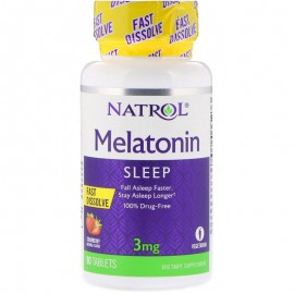 Melatonin Fast Dissolve Stawberry 3 mg 90 tab / Мелатонин