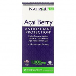Natrol Acai Berry / Экстракт Асаи 1000 мг 75 вегетарианских капсул