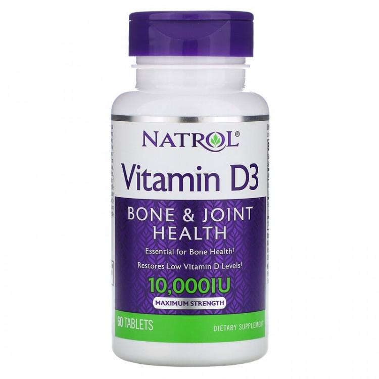 Natrol Витамин D3 10000 МЕ 60 таблеток