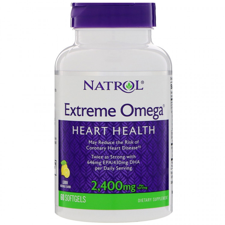 Extreme Omega 2400 mg 60 softgels / Омега-3
