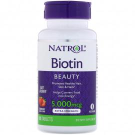 Biotin Beauty 5000 mcg 90 tab / Биотин со вкусом клубники