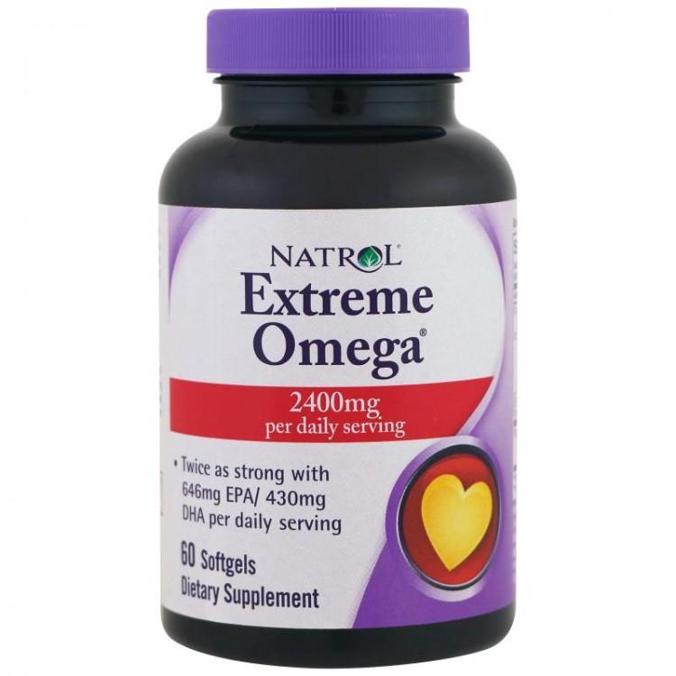 Extreme Omega 2400 mg 60 softgels / Омега-3