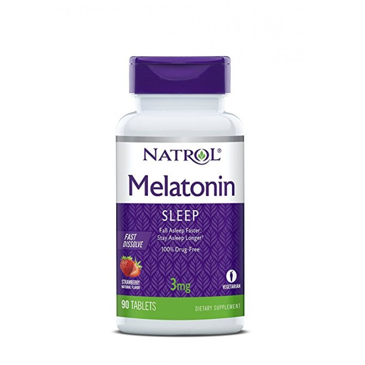 Melatonin Fast Dissolve Stawberry 3 mg 90 tab / Мелатонин