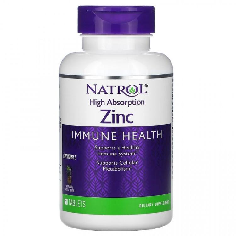Natrol Zinc / Цинк с высокой степенью поглощения 60 таблеток