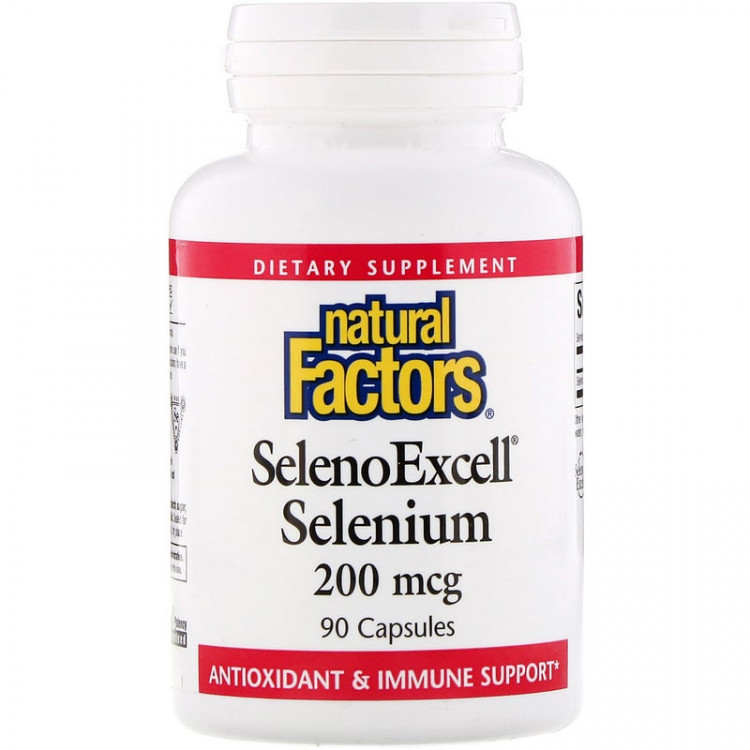 Natural Factors SelenoExcell / Селен 200 мкг 90 капсул