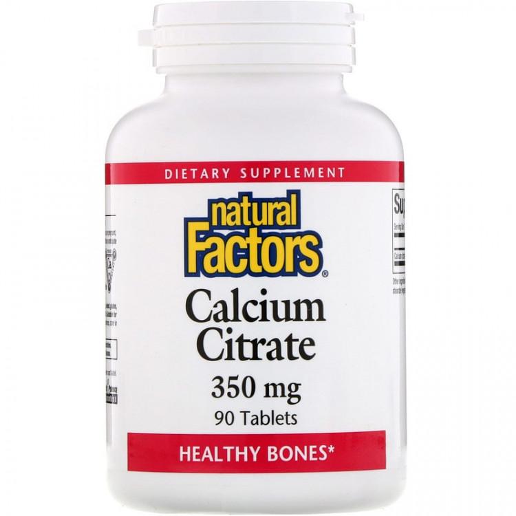 Natural Factors Цитрат кальция 350 мг 90 таблеток
