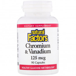 Natural Factors Хром и Ванадий 125 мкг 90 капсул