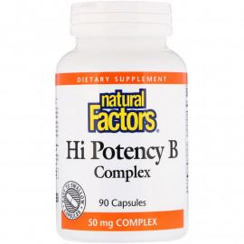Natural Factors Hi Potency B Complex / Витамины группы Б 90 капсул