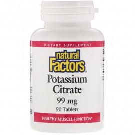 Natural Factors Potassium Citrate / Цитрат калия 99 мг 90 таблеток