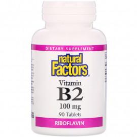 Natural Factors Vitamin B2 / Рибофлавин 100 мг 90 таблеток