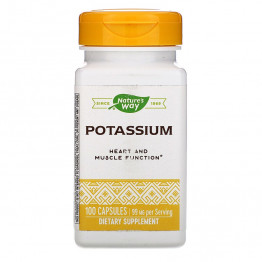 Nature's Way Potassium / Калий 99 мг 100 капсул