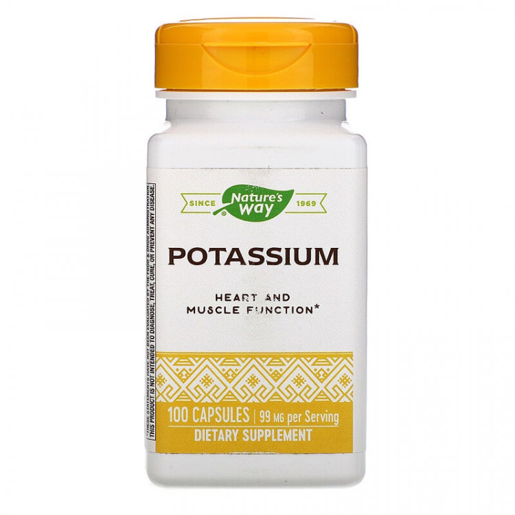 Nature's Way Potassium / Калий 99 мг 100 капсул