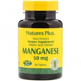 Nature's Plus Manganese / Марганец 50 мг 90 таблеток