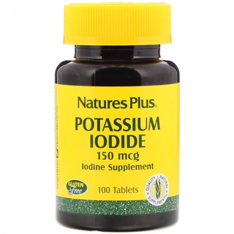 Nature's Plus Potassium Iodide / Йодид калия 150 мкг 100 таблеток