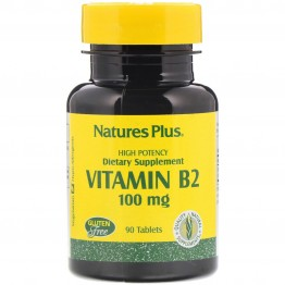 Nature's Plus Vitamin B-2 / Витамин B-2 100 мг 90 таблеток