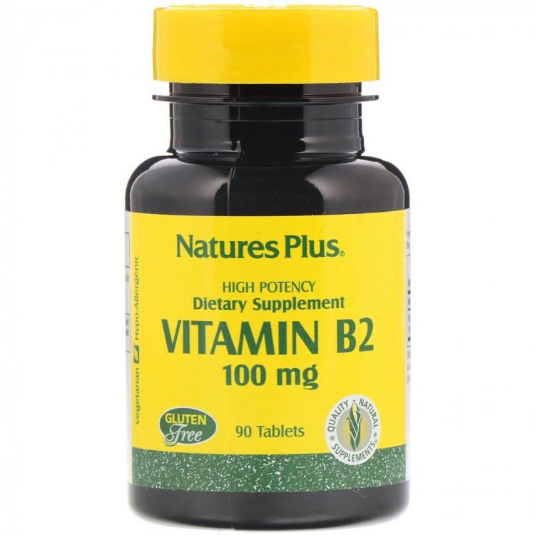 Nature's Plus Vitamin B-2 / Витамин B-2 100 мг 90 таблеток