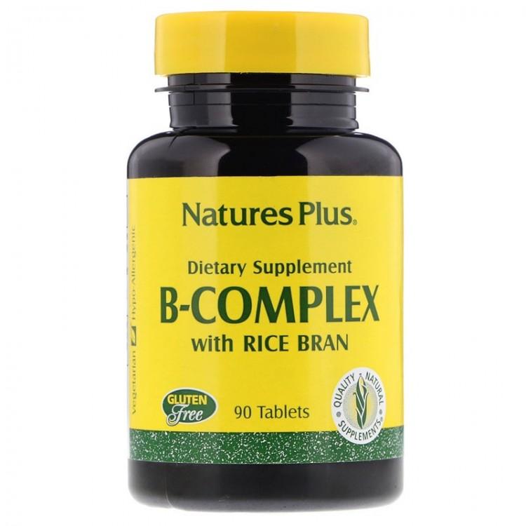 B-Complex / Комплекс витаминов группы B с рисовыми отрубями 90 таблеток
