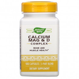 Nature's Way  Calcium Mag & D Complex / Кальций, Магний и Витамин Д3 100 капсул