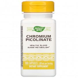 Nature's Way Chromium Picolinate / Пиколинат хрома 200 мкг 100 капсул