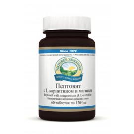 Natures Sunshine Пептовит с L-карнитином и магнием 60 таблеток по 1204 мг