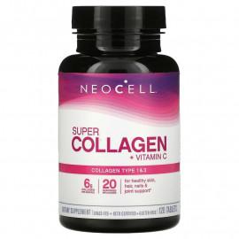Super Collagen+C Type 1 & 3 6000 mg 120 Tablets / Супер Коллаген