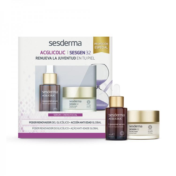 Набор ACGLICOLIC Liposomal serum  + SESGEN 32 Cell activating cream