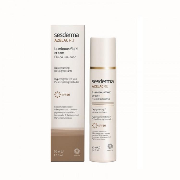 Azelac RU Depigmenting Luminous Fluid Cream SPF-50 - Флюид для сияния кожи c СЗФ-50, 50 мл