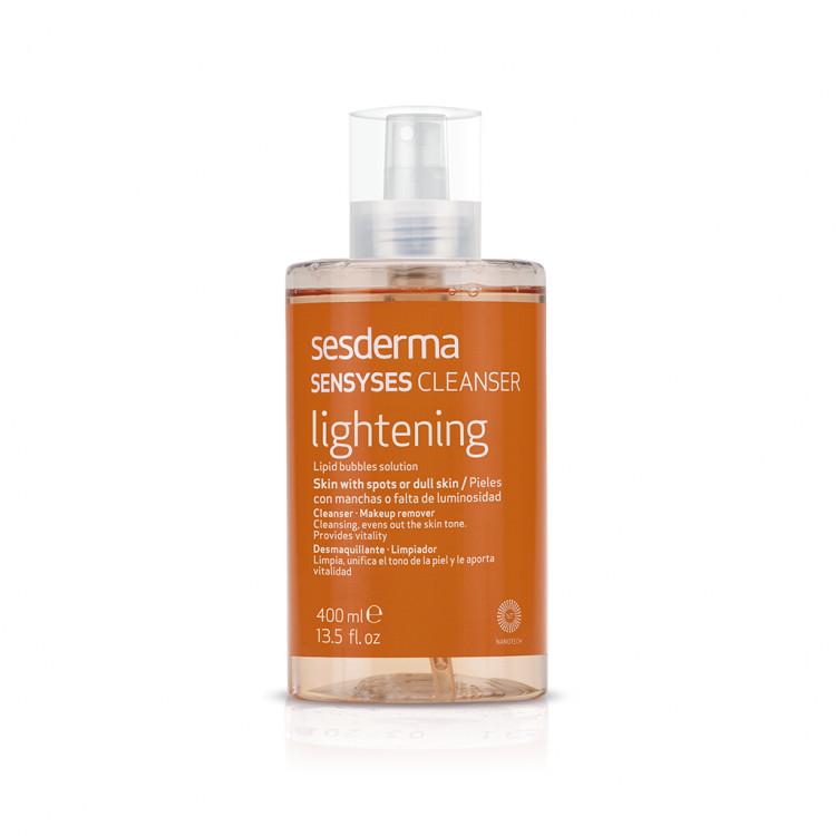 Sensyses Cleanser Lightening Лосьон липосомальный для снятия макияжа для пигментированной и тусклой кожи, 400 мл