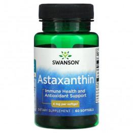 Swanson Astaxanthin 4 мг 60 капсул / Астаксантин