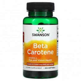 Swanson Beta Carotene 25000 IU (7,500 mcg RAE) 300 капсул / Бета-каротин / Витамин А