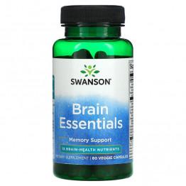 Swanson Brain Essentials 60 капсул / Поддержка памяти